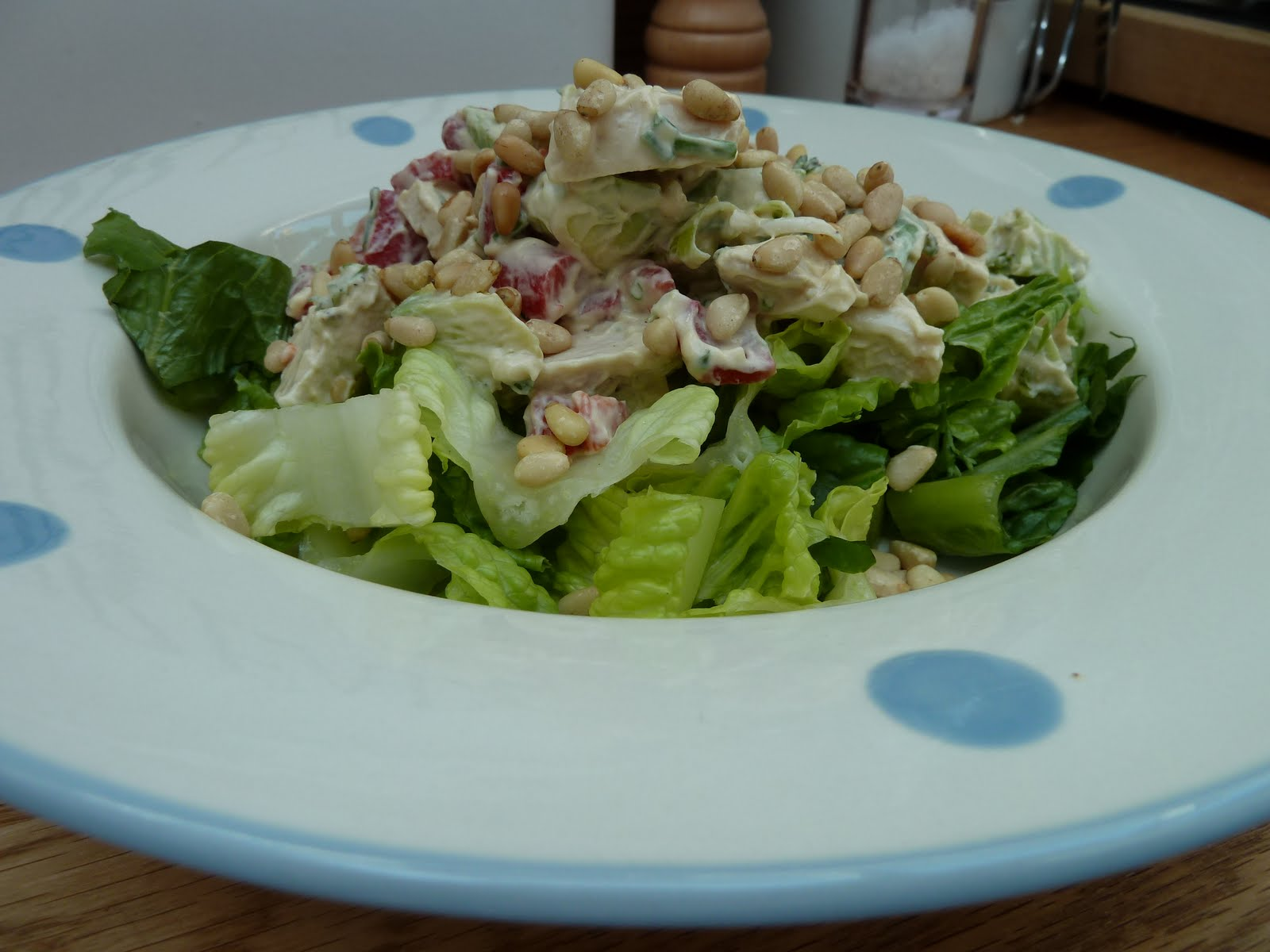 Kitchen Fairies: Chicken salad, with avocado, pine nuts ...