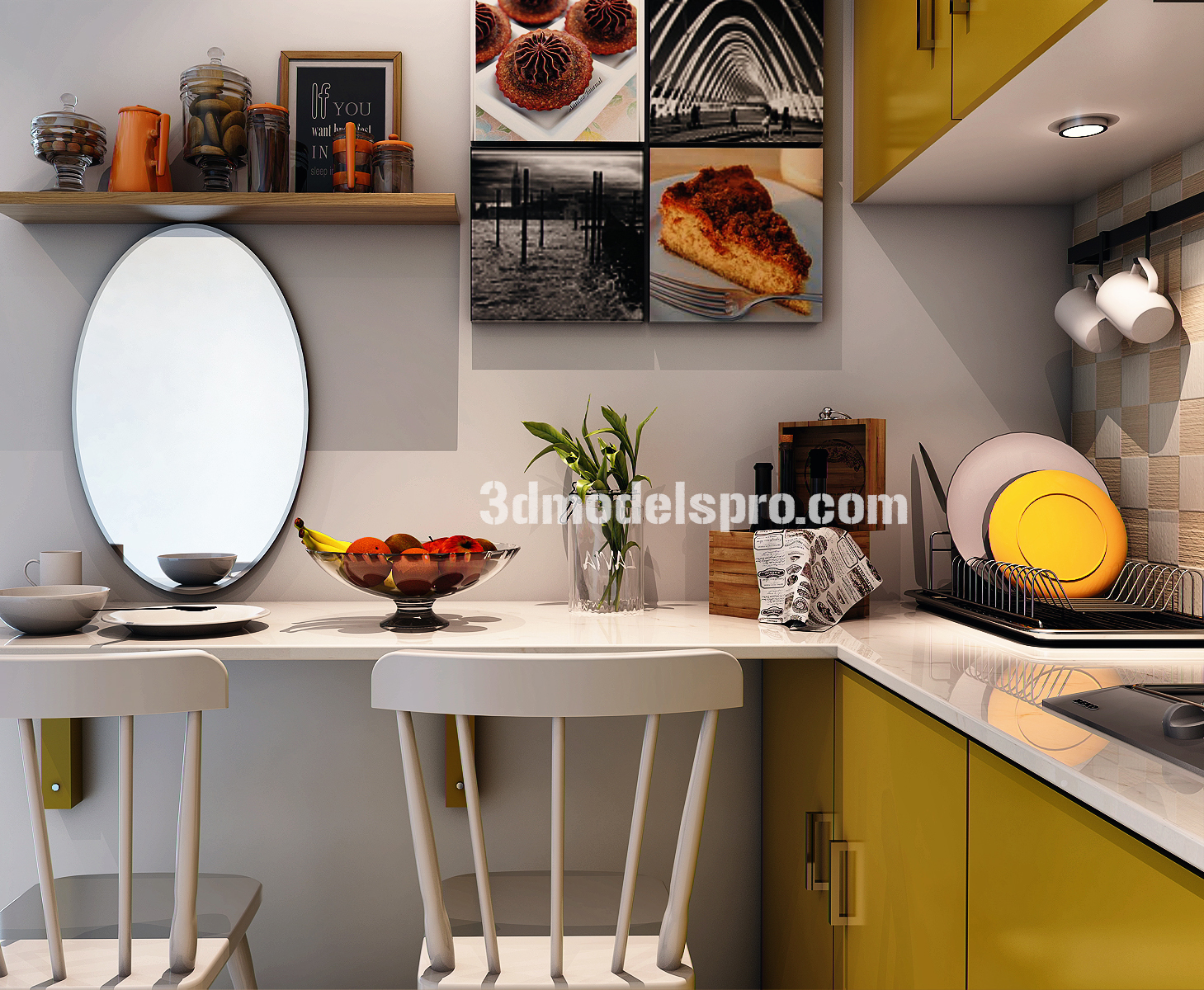Sketchup Scene Very Small Kitchen FREE STUFFS FOR