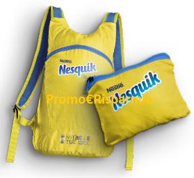 Logo Nesquik ti regala Quikbag, lo zainetto pieghevole