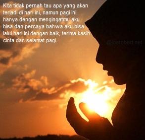 aku berdoa di pagi ini untuk kamu