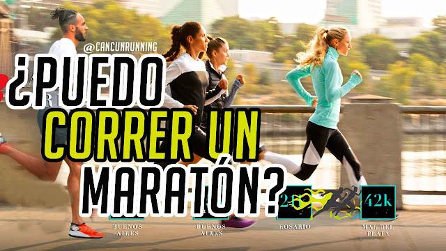 puedo correr un maratón