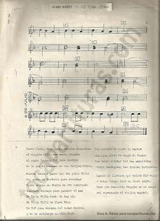 2 Partituras originales de A Vilio Filla con letra del compositor argentino Elmo Rául Ñáñez