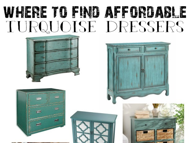 Where to Find Affordable Turquoise Dressers