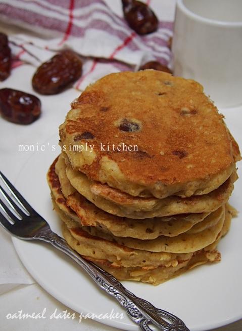 resep pancake oatmeal kurma