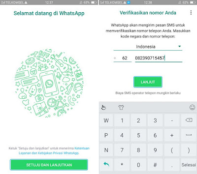 Daftar WhatsApp Android 1