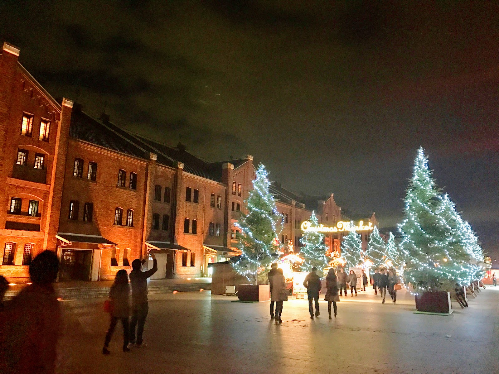 yokohama christmas market at the red brick warehouse