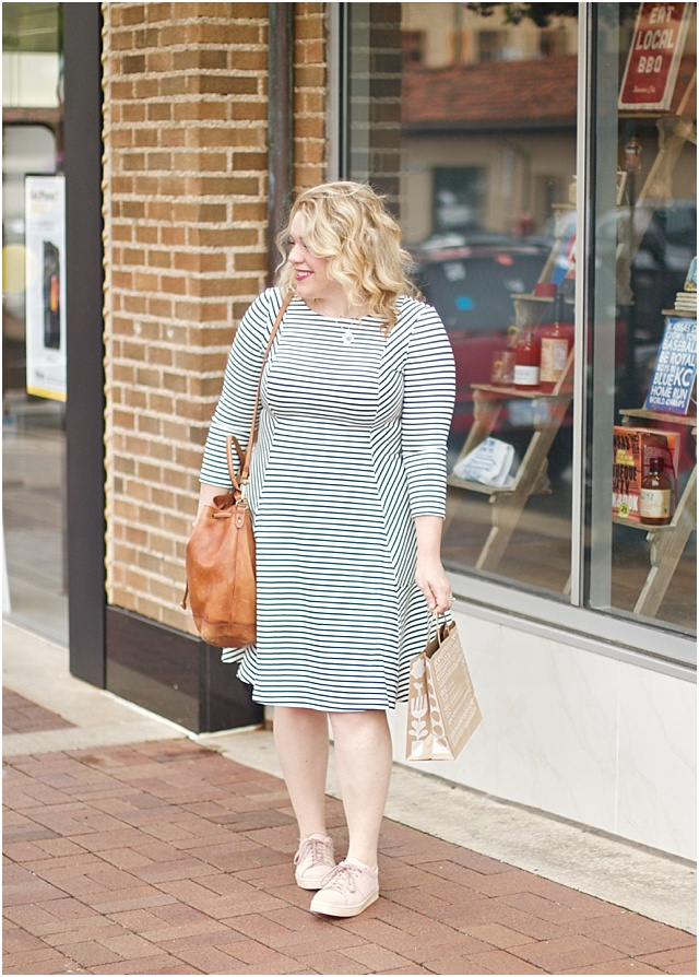 Lands End Stripe Dress