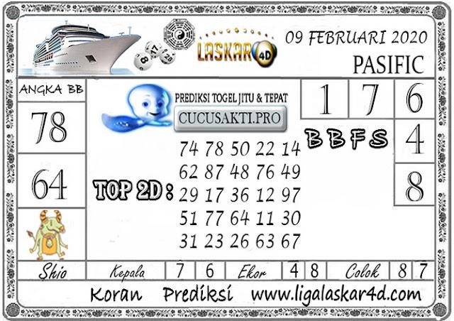 Prediksi Togel PASIFIC LASKAR4D 09 FEBRUARI 2020