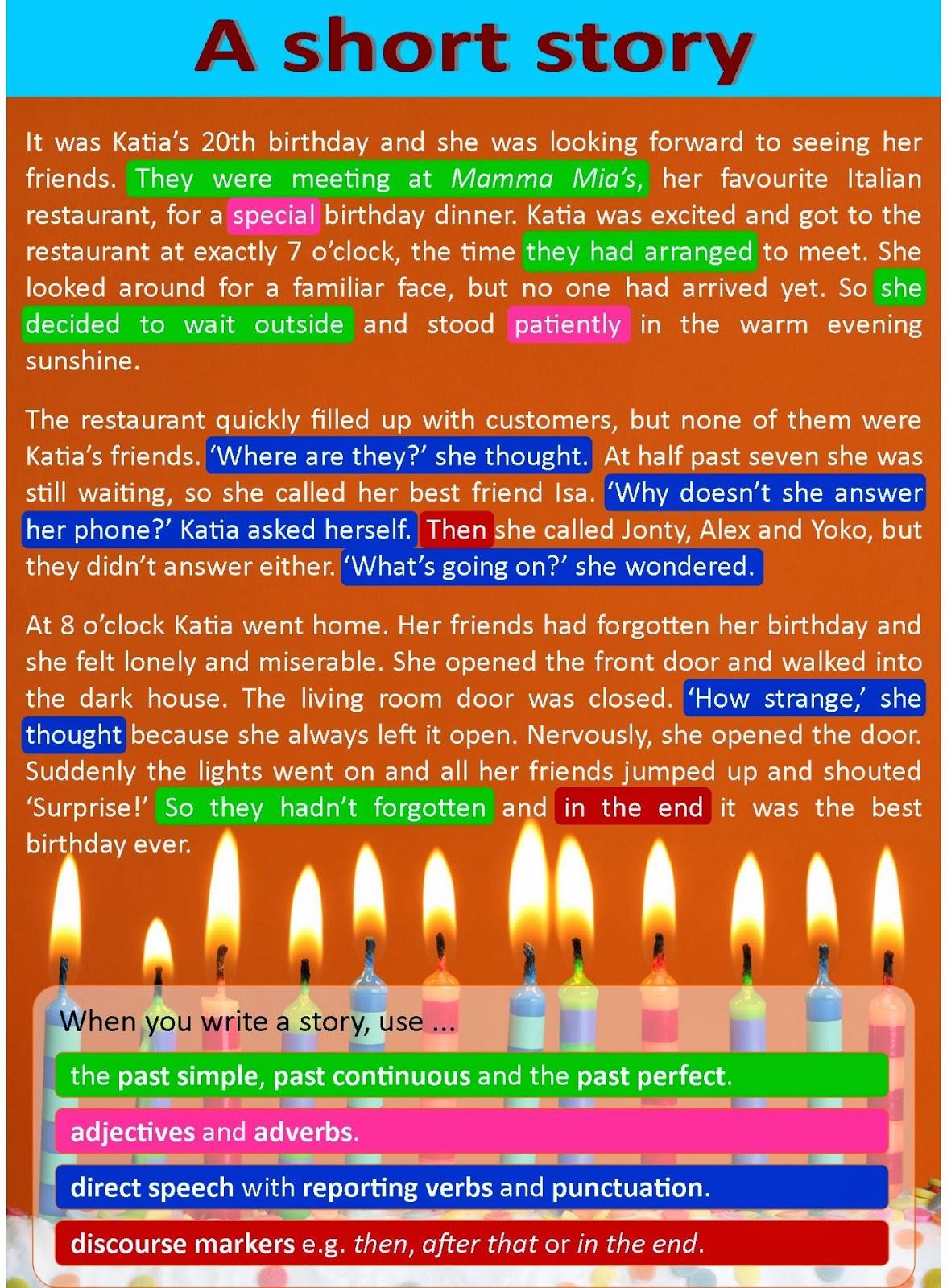 Nc Writing Secondary Schoolysing A Short Story