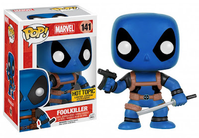 Hot Topic Exclusive Deadpool & the Mercs for Money Pop! Marvel Mystery Blind Box Vinyl Figures by Funko - Blue Deadpool Foolkiller