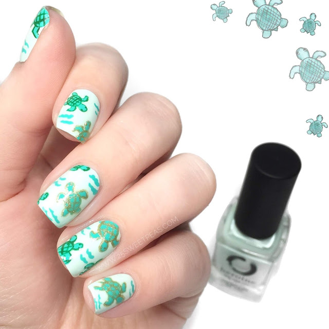 Sea Turtle Nail Art
