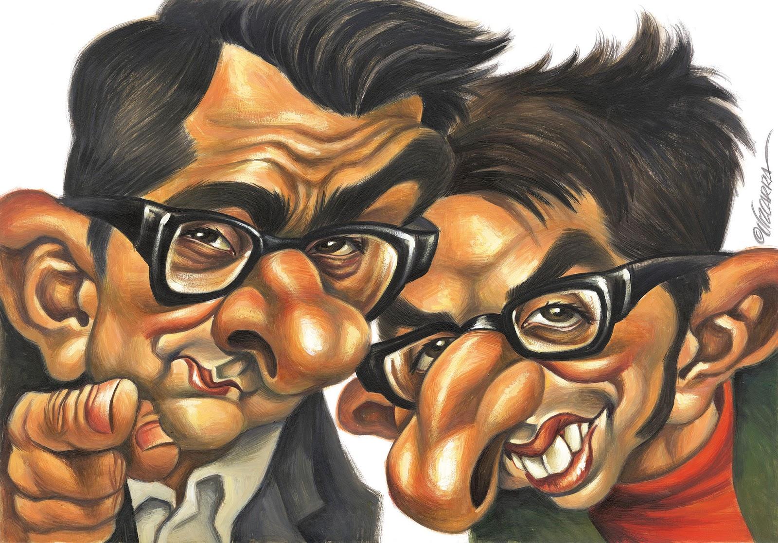 Buenafuente y Romero por Joan Vizcarra