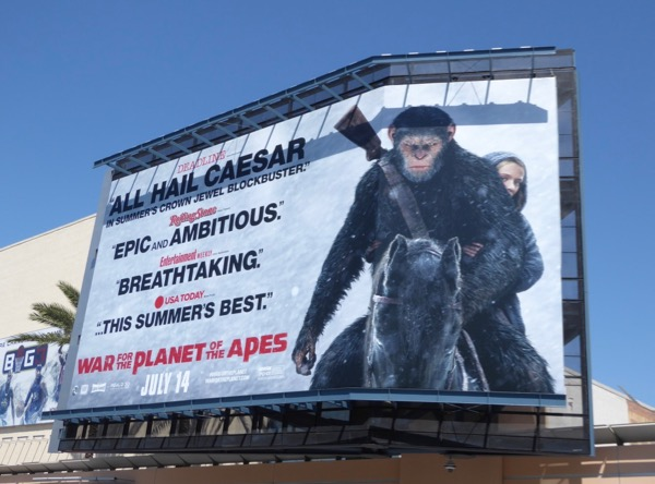 All Hail Caesar War for Planet of Apes billboard