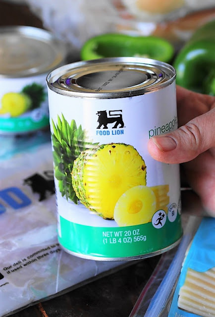 Can of Pineapple image for Hawaiian Ham & Cheese Party Sandwiches