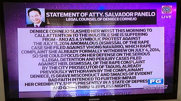 Deniece Cornejo suicide attempt