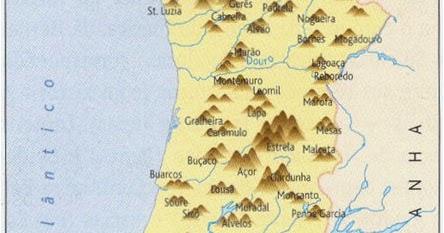 serras de portugal mapa Rios e as Serras de Portugal Rios e as Serras de Portugal Sites  serras de portugal mapa