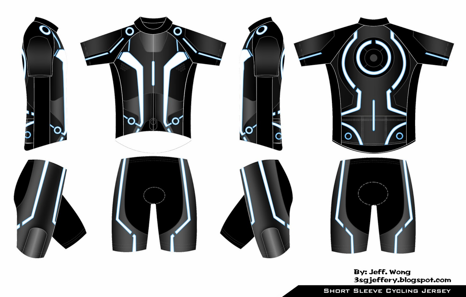Jeffery 39 s diary cycling tron custom cycling jersey for Custom cycling jersey template