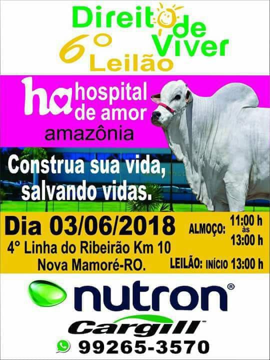 em prol do hospital de amor da amazônia em Rondônia