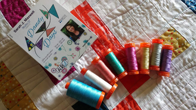 Dandy Days Aurifil thread collection by Sarah Maxwell