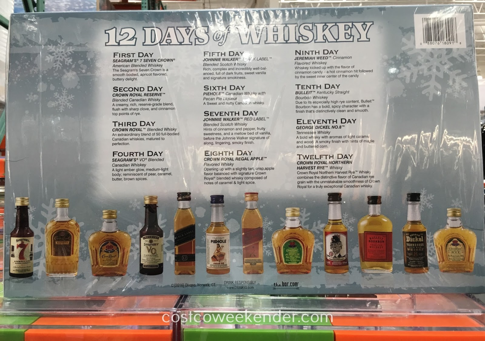 Costco 1111768 - 12 Days of Whiskey Variety Gift Pack - great as a gift or for yourself