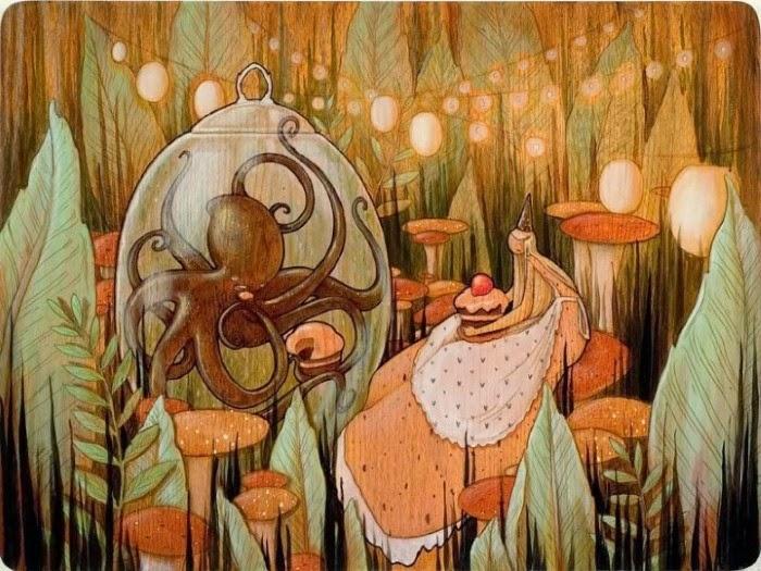 Рисунки на деревянных панелях. Brandi Milne