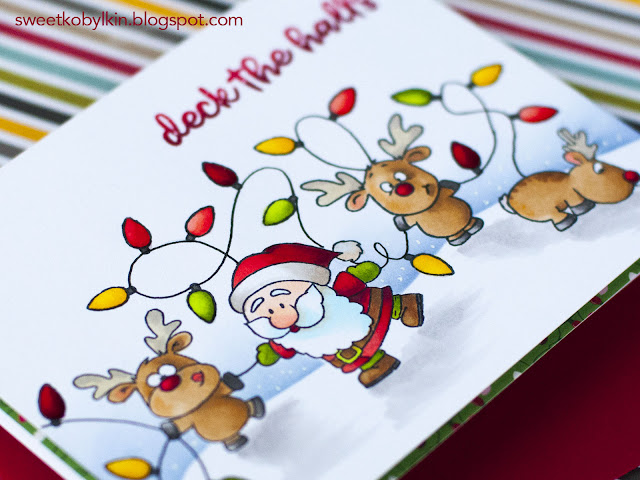 Build A Scene with Accessory Stamps with Gerda Steiner Designs Reindeer And A Tree