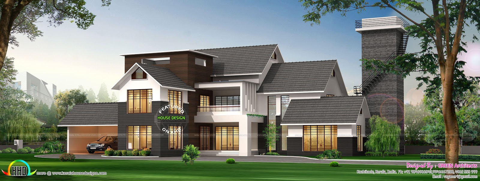 January 2016 kerala home design and floor plans for Villa type house plans
