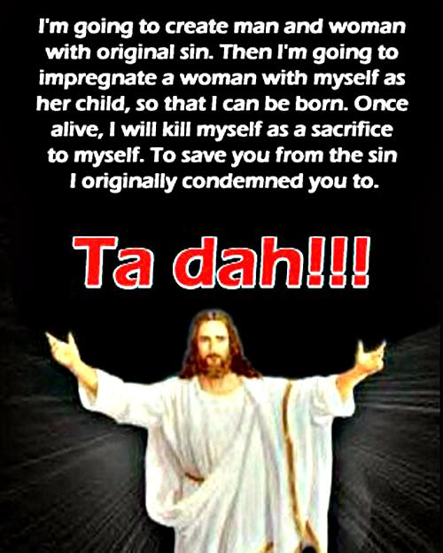 Funny Jesus Salvation Ta dah!!! picture