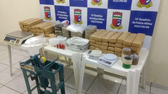 PM apreende quase 90 quilos de drogas no interior do RN