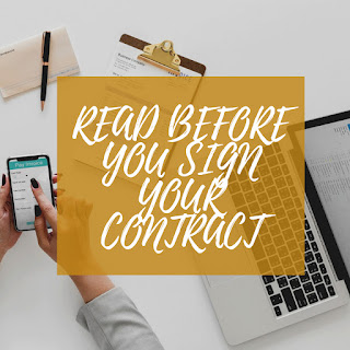 Read before you Sign Your Contract