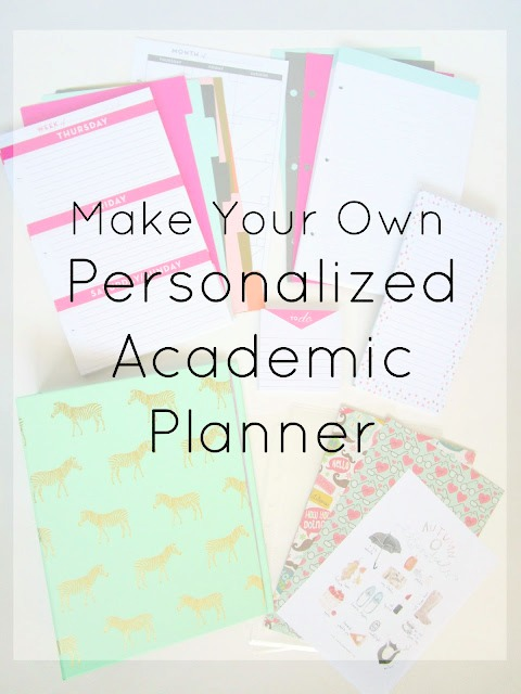 DIY Personalized Academic Planner