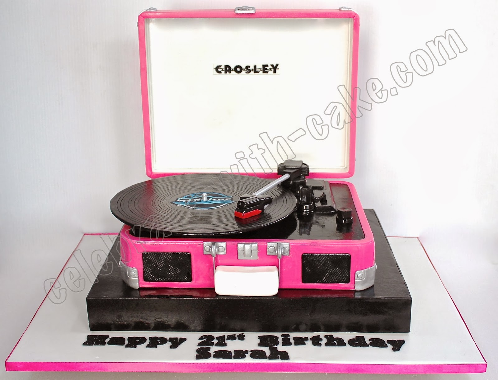 3d Sculpted Crosley Record Player 21st Birthday Cake
