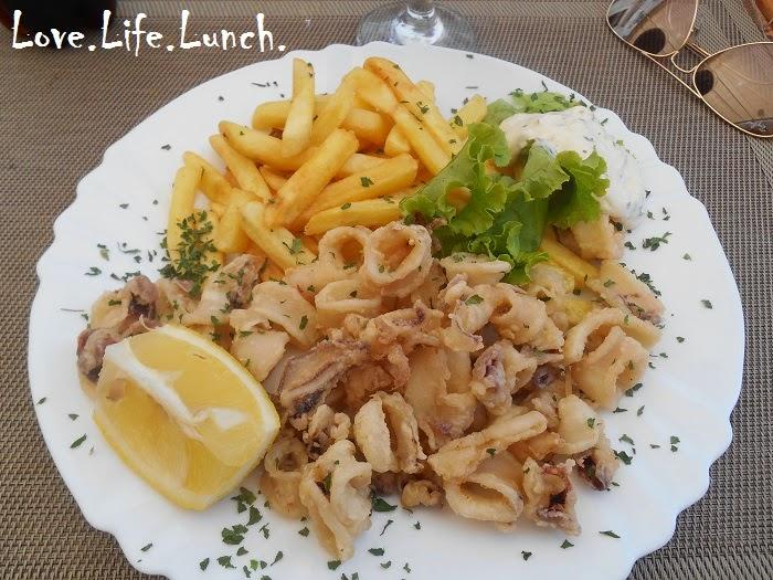 Lignje, frittura di calamari alla croata