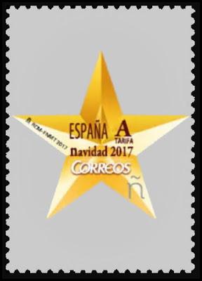 Filatelia - Navidad 2017 - España - Decoración navideña - Estrella