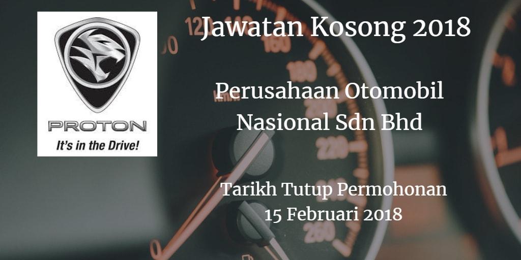Jawatan Kosong PROTON 15 Februari 2018