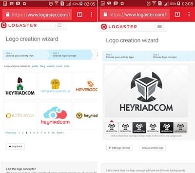 Membuat Logo Dengan Logaster di Android