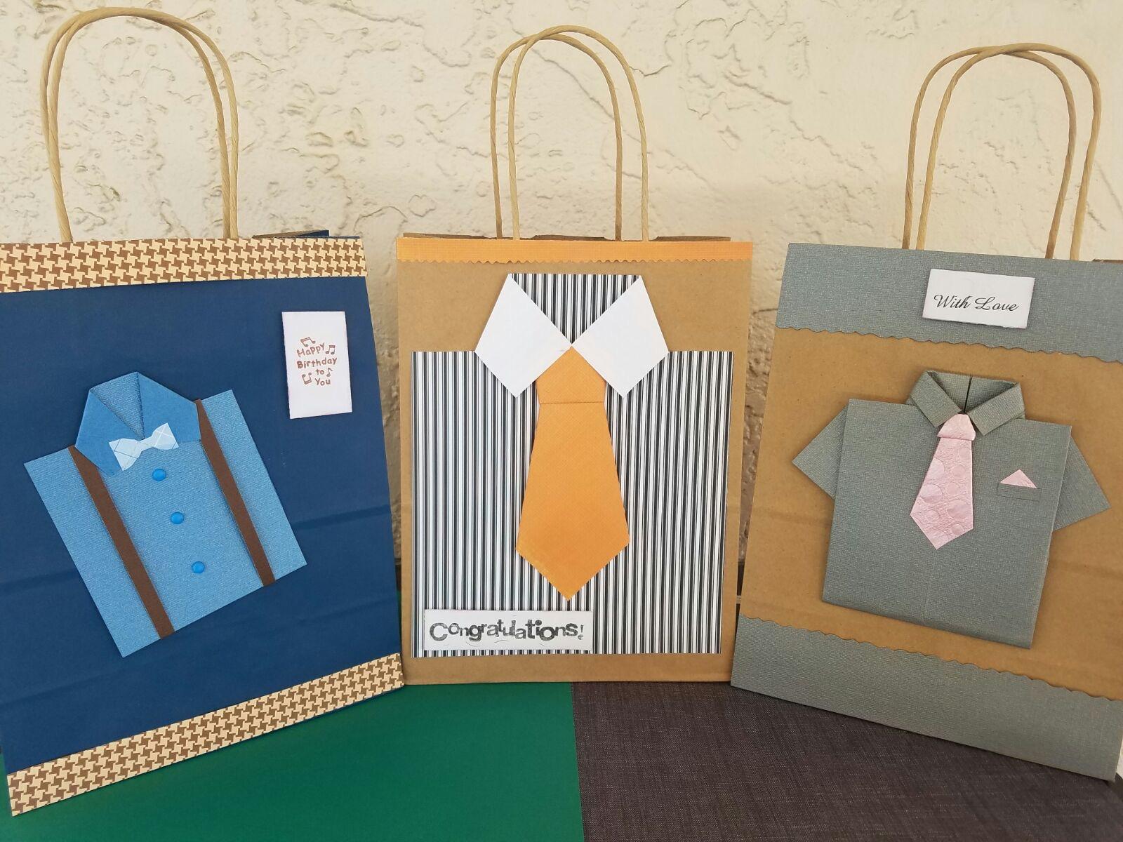 Bolsas de papel decoradas regalo hombres mis creaciones - Bolsa de papel para regalo ...