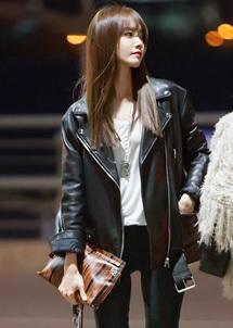 Gambar Jaket Kulit Yoona SNSD K-Pop