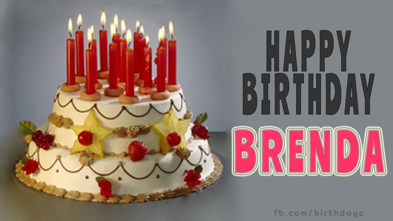 Awe Inspiring Happy Birthday Brenda Cake Happy Birthday Greeting Cards Funny Birthday Cards Online Drosicarndamsfinfo