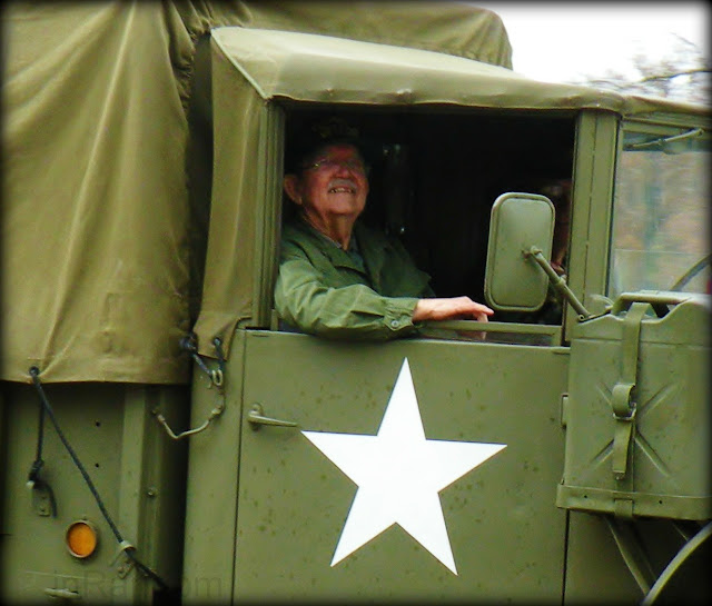Army Veteran in Jeep