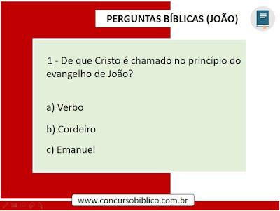 Perguntas Bíblicas Joao
