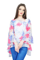 Bluza larga cu imprimeu floral D2537