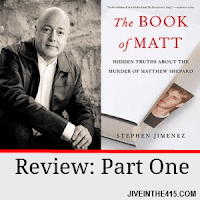 "Gay author Stephen Jimenez and the cover of ""The Book Of Matt"""