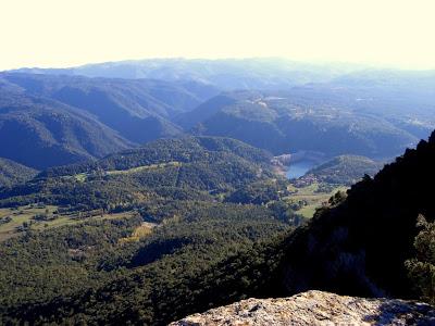 Sau reservoir from a point in Collsacabra near Tavertet