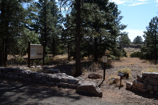 sign at the start of the trail area