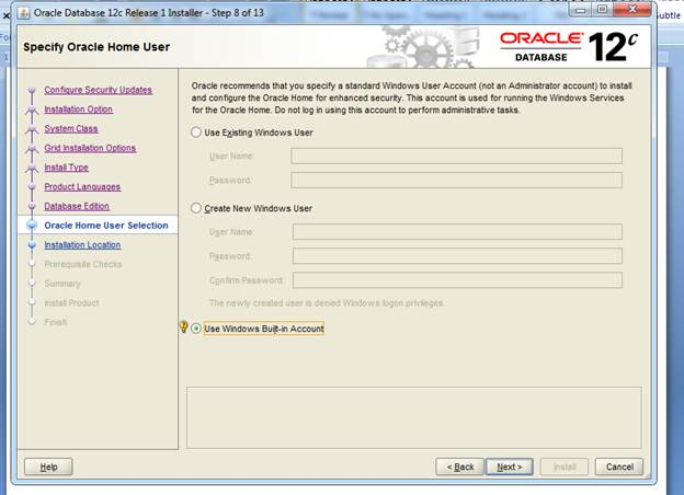 Oracle Database 12c Installation