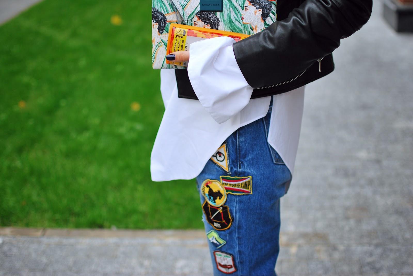 street fashion details, denim patches, jeans patches, джинсы с нашивками, с чем надеть джинсы, costa de la moda