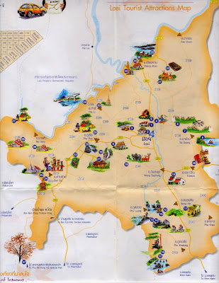 Loei province Tourist Attractions map