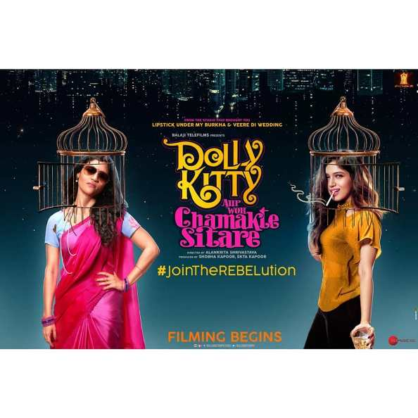 full cast and crew of Bollywood movie Dolly Kitty Aur Woh Chamakte Sitare 2019 wiki, movie story, release date, Dolly Kitty Aur Woh Chamakte Sitare wikipedia Actress name poster, trailer, Video, News, Photos, Wallpaper, Wikipedia
