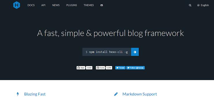Hexo Static blog framework